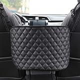 IPELY Car Pocket Handbag Holder Pouch, Large Leather Car Handbag Holder Between The Two Seats, Barrier of Backseat Pet…