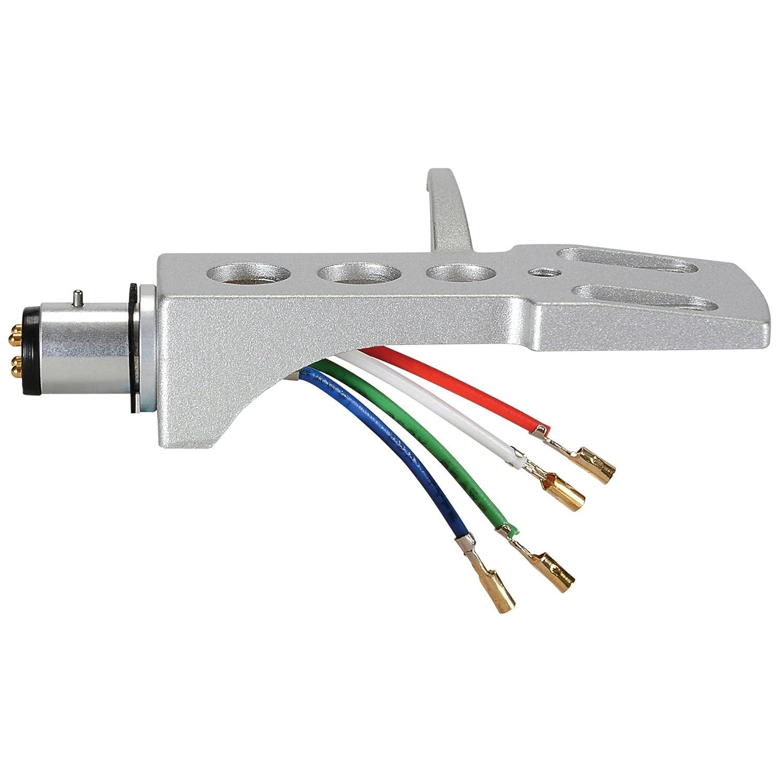 Amazon.com: A-T estilo Phono headshell con cables de plomo y ...