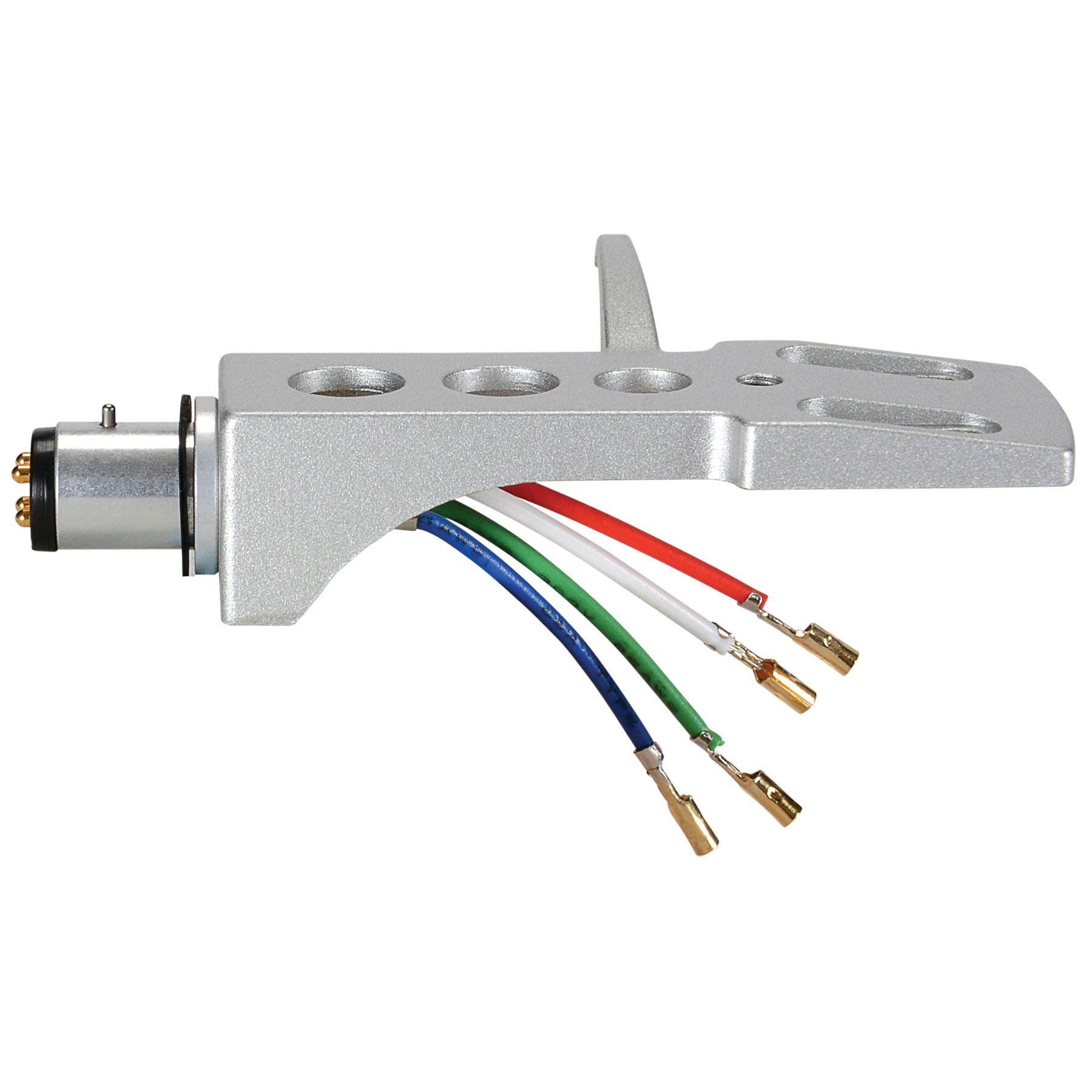 Parts Express A-T Style Phono Headshell with Lead Wires & Gold Plated Contacts