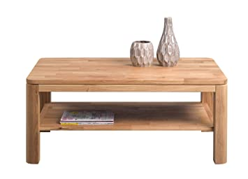 Hometrends4you Telfs 2 Table Basse En Chene Massif Huile