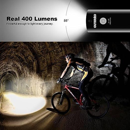 Fahrrad Licht Fahrradbeleuchtung LED MTB Fahrradlampe Frontscheinwerfer USB CHG