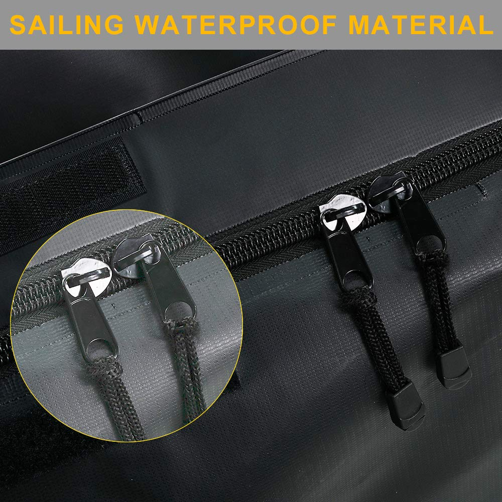 Car Hitch Cargo Carrier Bag,20 Cubic Feet 100/% Weatherproof Hitch Mount Cargo Bag with 6 Heavy Duty Straps Black
