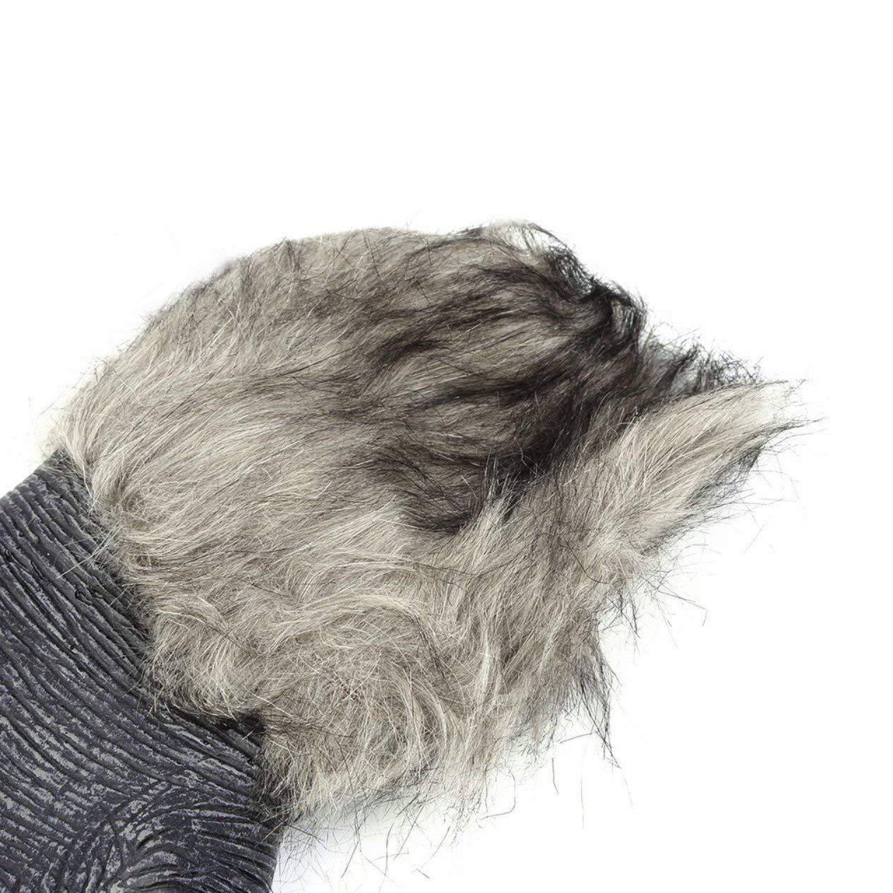 Halloween Werwolf Handschuhe Latex pelzigen Tier Handschuhe Wolf Krallen Halloween Prop Horror Teufel Party Club Lieferungen Gruselige Handschuhe Ironheel EIN Paar Wolfspfoten Handschuhe