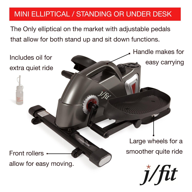 JFIT 50-1000-PEWj/Fit Under Desk & Stand Up Mini Elliptical, Pewter by JFIT (Image #3)