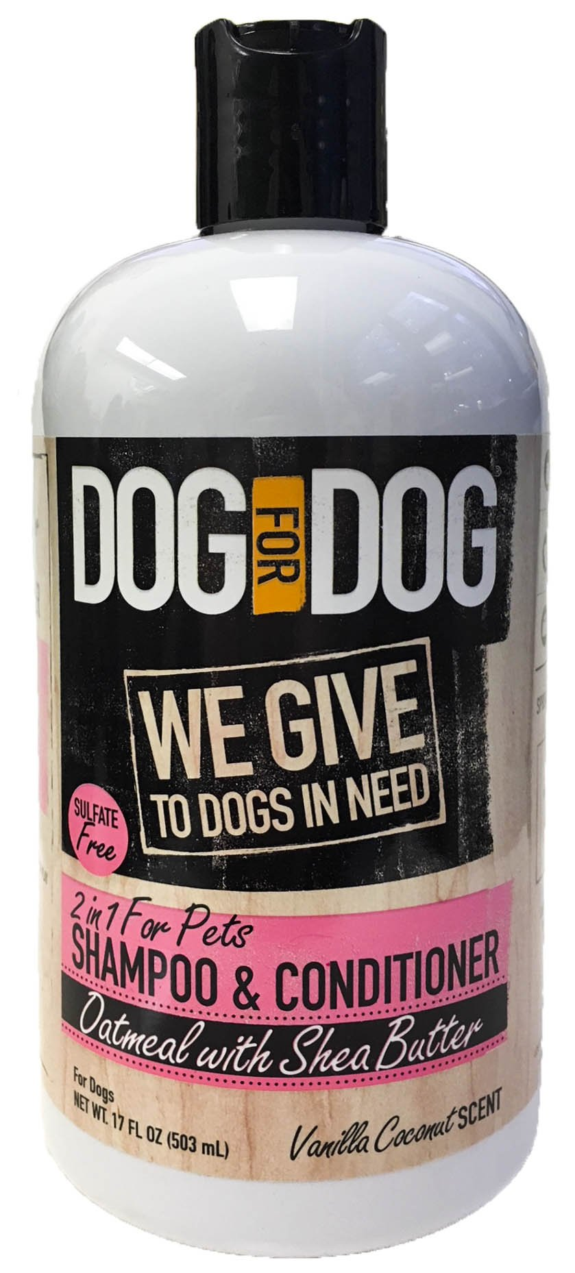 DOG for DOG Pet Oatmeal Dog Shampoo & Conditioner - Vanilla Coconut Scent - 2 in 1 for Dogs- Oatmeal with Shea Butter