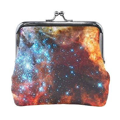 Amazon.com: Monedero con diseño de estrellas del espacio ...