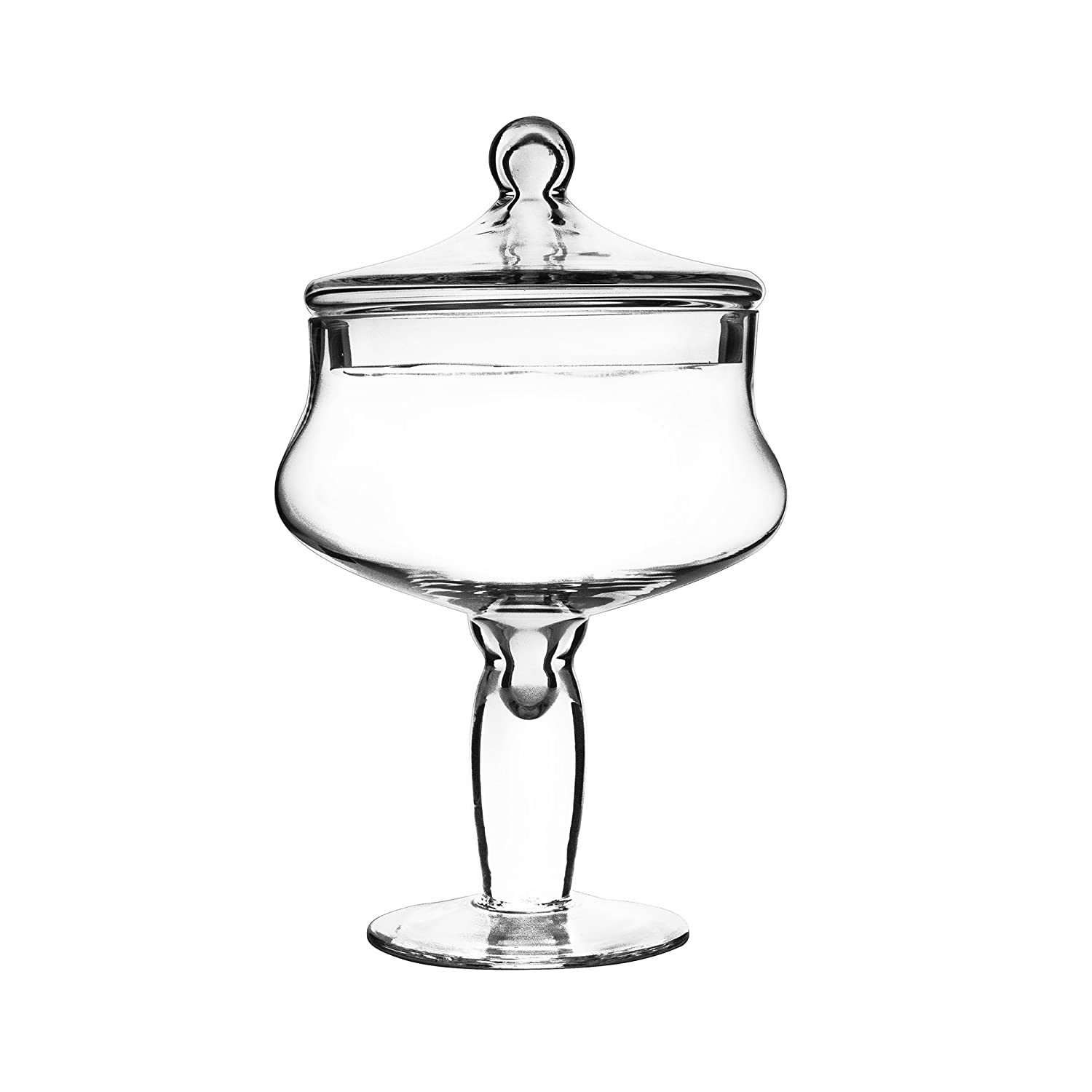 Apothecary Jar, H-12 - Candy Buffet Container by Modern Vase & Gift B004YDAWE8