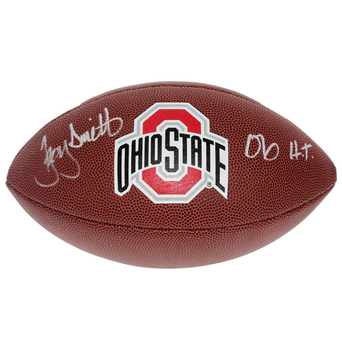 Troy Smith Autographed Signed Ohio State Buckeyes White Panel Football - 06 HT - Certified Authentic
