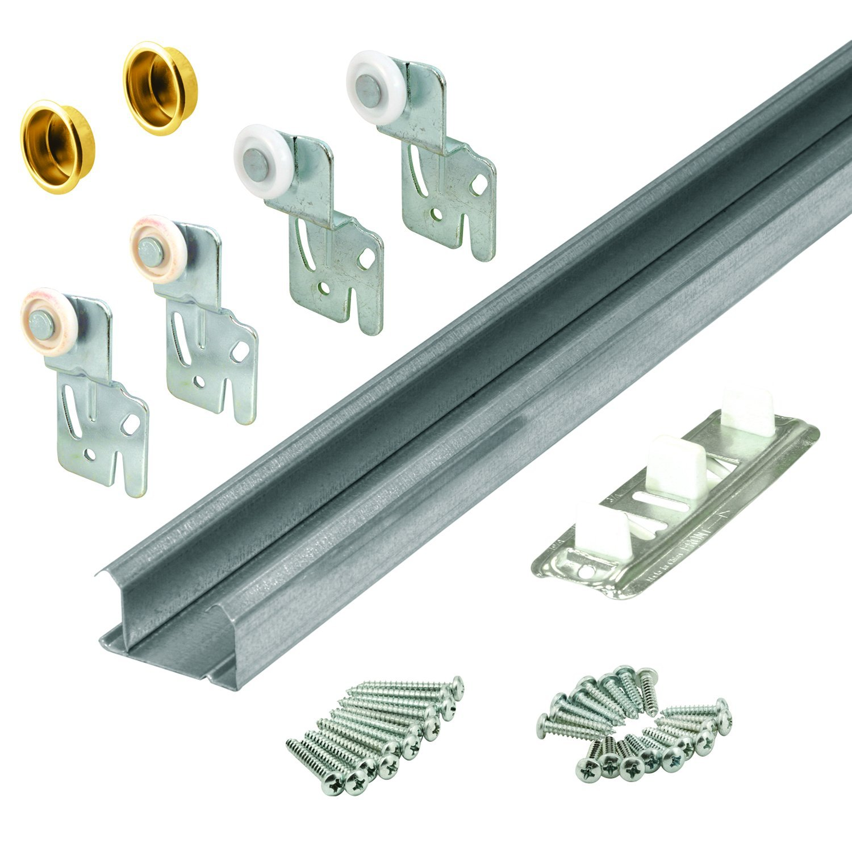 Slide-Co 161791 Bi-Pass Closet Track Kit (2 Door Hardware Pack), 48''