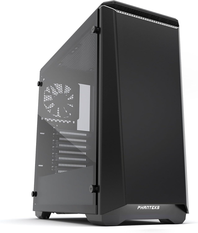 Phanteks - eclipse p400midi- tower, tempered glass- negro/blanco