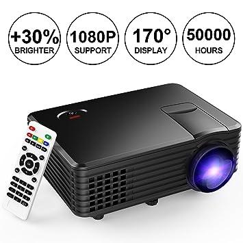 tenker rd805 Mini proyector apoyo 1080P USB/VGA/HDMI/AV: Amazon.es ...