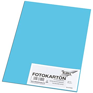 Folia Fotokarton 50 Bogen Bastelpapier 300g//m² DIN A4