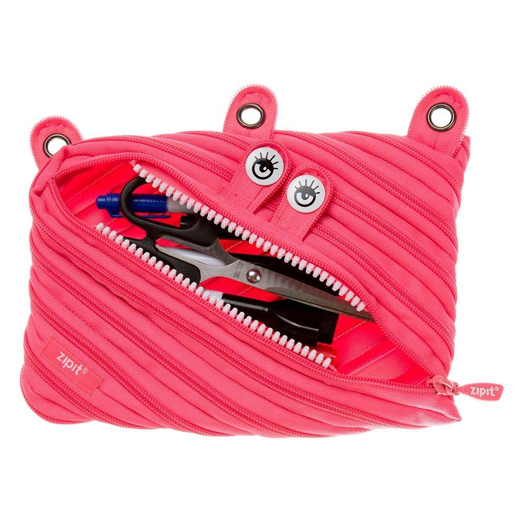 Zipit Monster - Estuche con 3 anillas, color rosa L: Amazon ...