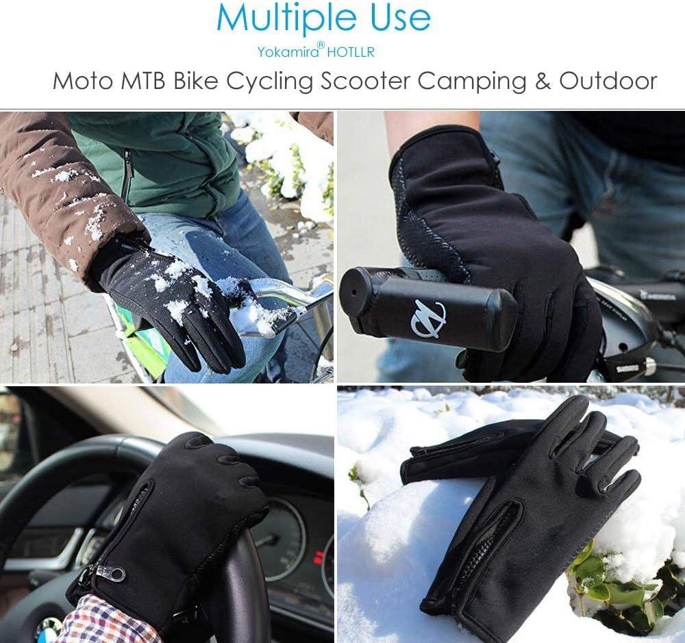 Guanti da Moto Antivento Caldi E Spessi Invernali Impermeabili per Scooter Copri Manico Caldo per Moto Guanti da Manubrio Neri per Moto