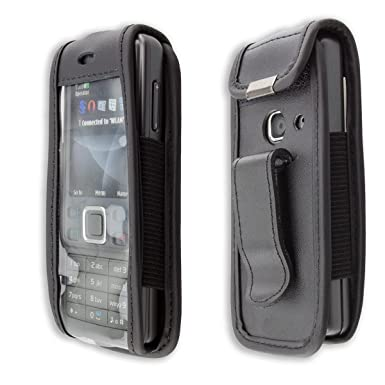 new arrival e07d0 a4884 caseroxx Leather-Case with belt clip for Nokia 6300 / 6300i made of real  leather with belt-clip in black
