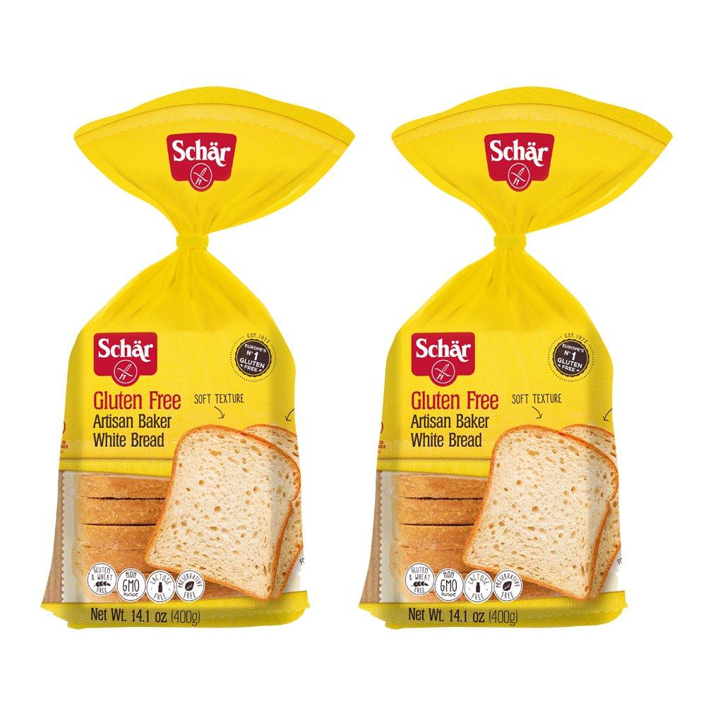 Schar Gluten Free Artisan Baker White Bread, 2 Count by Schar