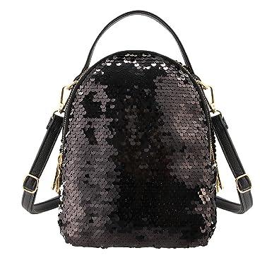 a5671fb39591 Liliam Girls Dazzling Sequins Backpack Daypack Shoulder Travel Mini Bag  Satchel Totes