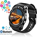 Amazon.com: SFABFEMIT Bluetooth Smart Watch with Camera ...