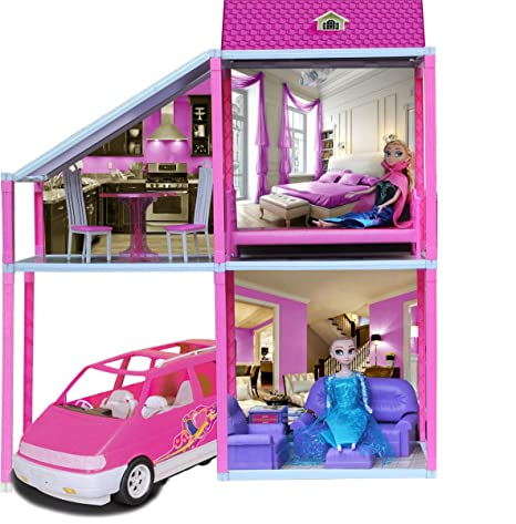 buy toyzone disney princess my town house doll house play set for girls 78 pcs online at low prices in india amazon in toyzone disney princess my town house doll house play set for girls 78 pcs