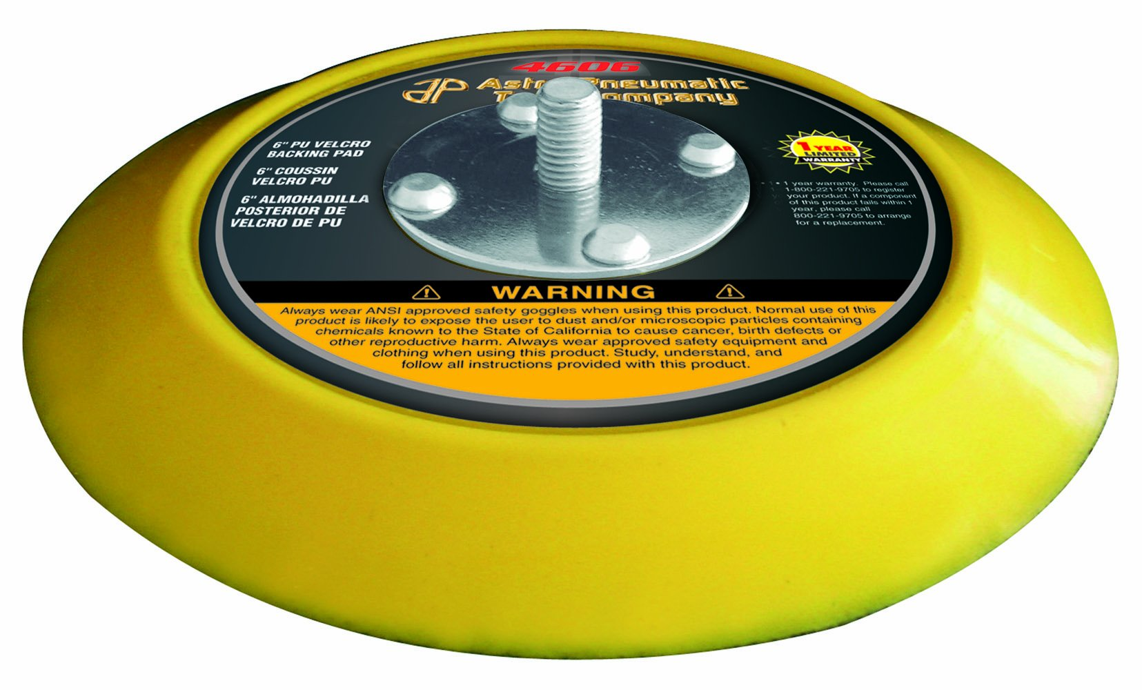 Astro Pneumatic Tool 4606 6-Inch PU Velcro Backing Pad by Astro Pneumatic Tool (Image #1)