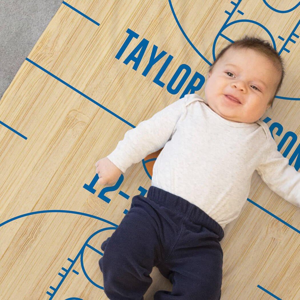 Basketball Baby & Infant Blanket   Basketball Court Wood by ChalkTalkSPORTS (Image #2)