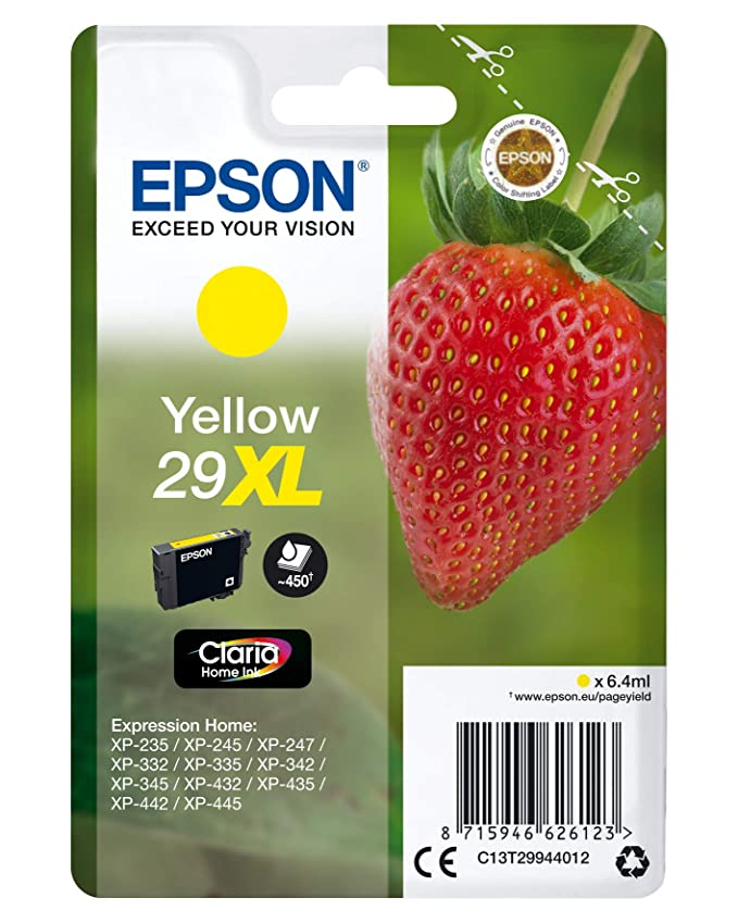 Amazon.com: Epson C13T29944022 (29XL) Cartucho de tinta ...