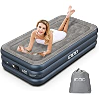 iDOO Air Mattress, Inflatable Airbed with Built-in Pump, 3 Mins Quick Self-Inflation/Deflation, Comfortable Bedding Top…