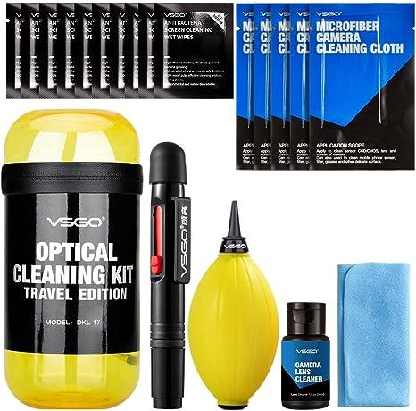 VSGO DKL-17 - Kit de viaje para limpieza lentes, color amarillo ...