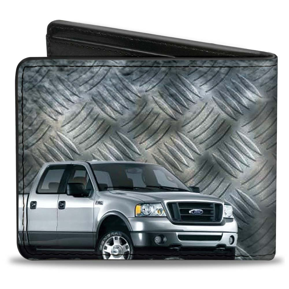 One Size Multi Buckle-Down Mens Wallet F-150 Ford Truck//checker Metal Diamond Plate Accessory