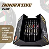 IgnatGames Steel Tip Darts Set - Professional Darts with Aluminum Shafts, Rubber O'Rings, and Extra Flights + Dart Sharpener + Innovative Case + Darts Guide