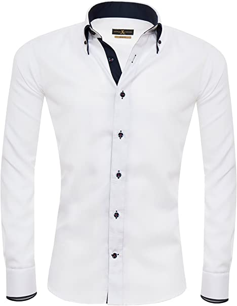 Giorgio Capone Camisa Premium para Hombre, 100% Algodon, Slim/Normal & Regular-Plus Fit: Amazon.es: Ropa y accesorios