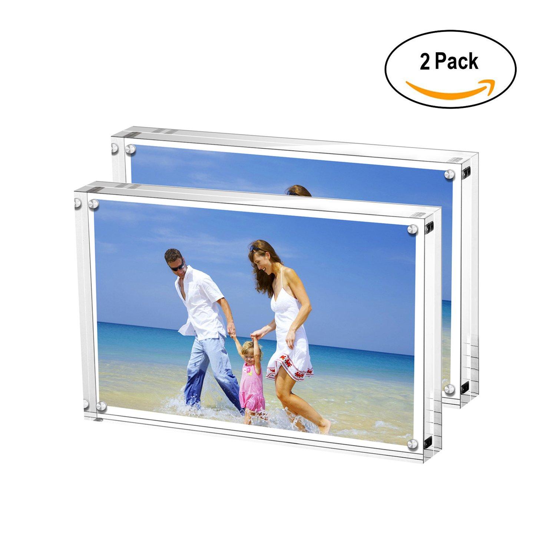 Amazon.de: Acryl Bilderrahmen, 9 x 13 cm Transparent, Doppelseitig ...