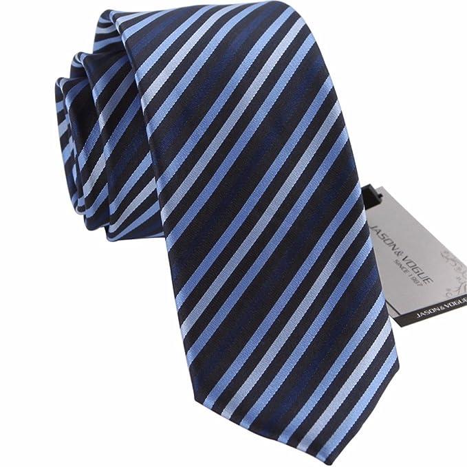HXCMAN 7cm azul oscuro rayas corbata Diseño clásico corbata ...