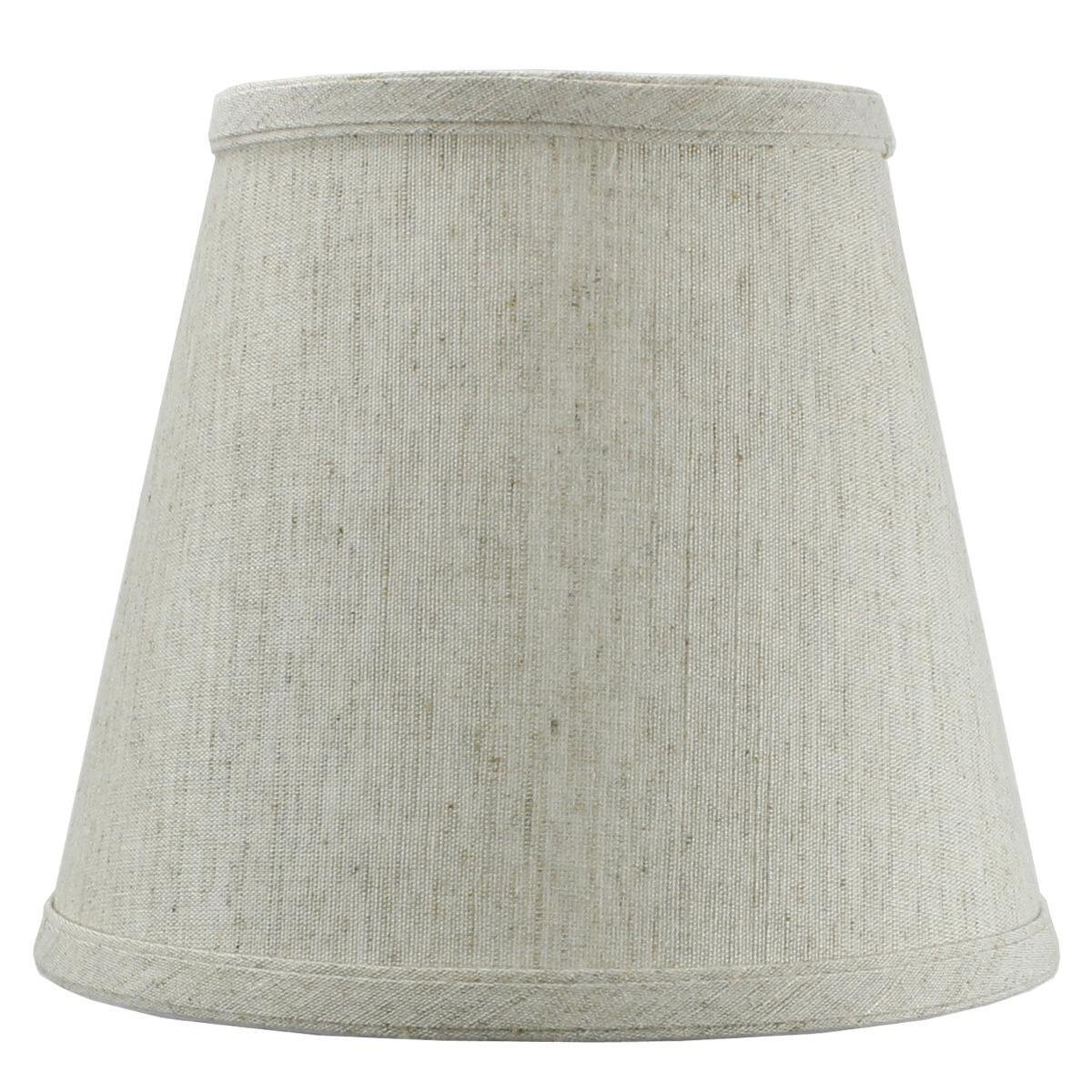 Textured Oatmeal Hard Back Lampshade with clip-on fitter By Home Concept - Perfect for small table lamps, desk lamps, and accent lights -Small, Off-White