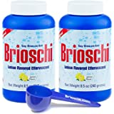 Brioschi Italian Effervescent 8.5oz Bottle (2 Bottles) With Exclusive Custom Brioschi Serving Size Scoop (Two Bottles)