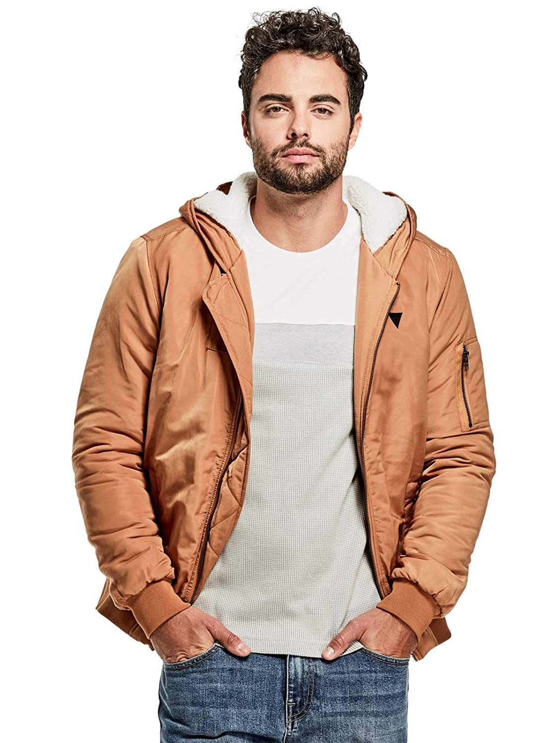 Guess Factory Men's Jonathan Bomber Jacket GuessFactory