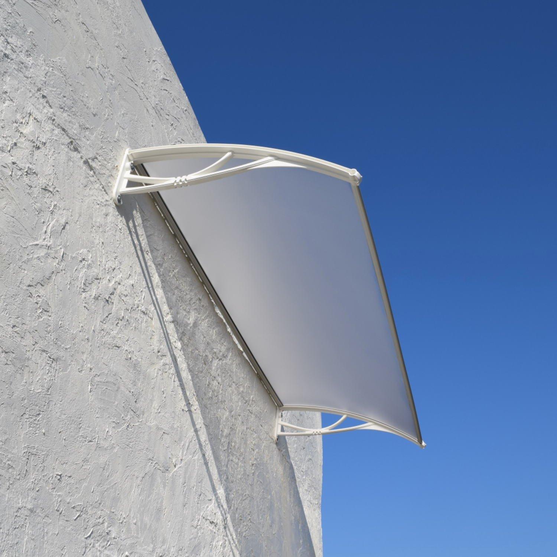 ひさしっくす おしゃれ庇 ひさし Xモデル (W150cm, ボード:フローズン ブラケット:ホワイト) B076RXVRJB 26892 W150cm|ボード:フローズン ブラケット:ホワイト ボード:フローズン ブラケット:ホワイト W150cm