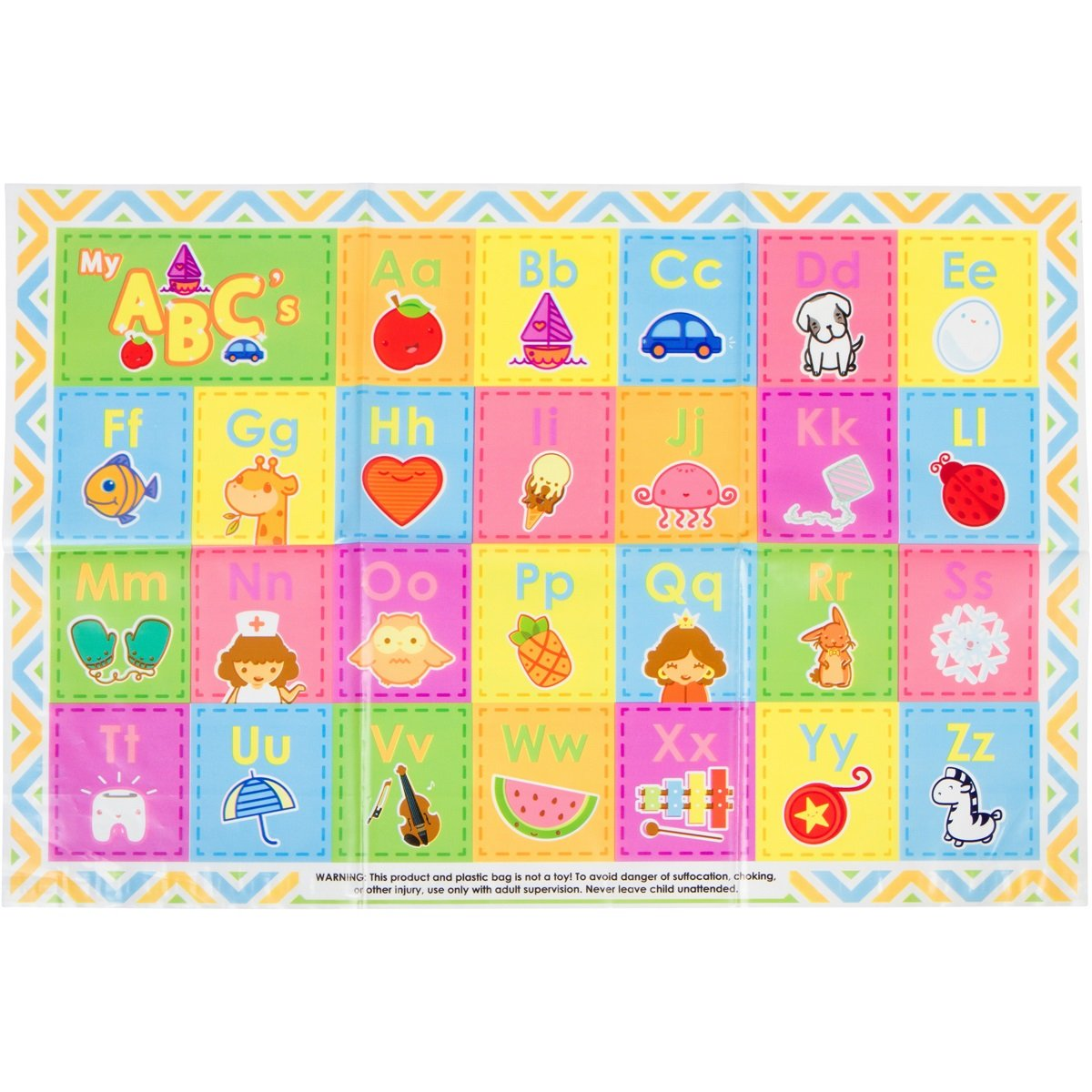 60 Pack - Disposable Placemats - Children's ABC Topper for Table by Eat Smart