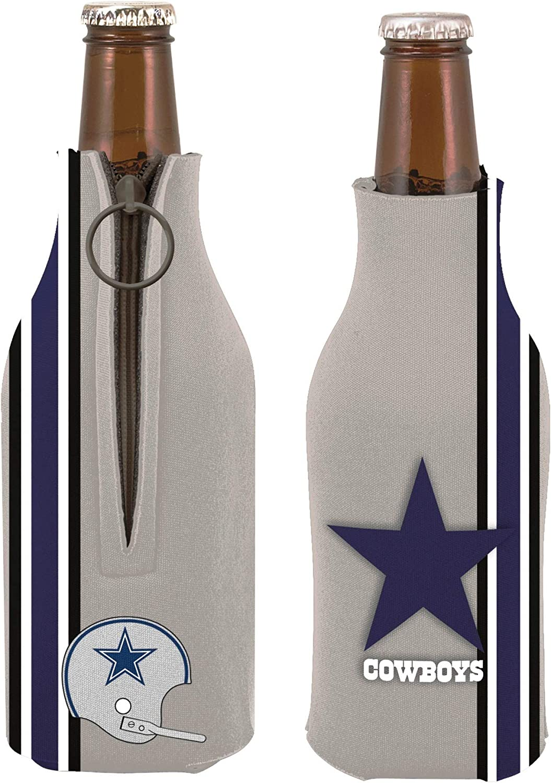 Cowboys 2-Pack Throwback Design Zipper Bottle Neoprene Beverage Insulator Holder Football