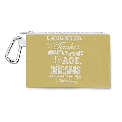 Amarillo risa es atemporal Walt Disney cita lienzo bolsa Zip ...