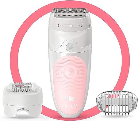 Braun Silk-épil 5 5-620 Depiladora eléctrica para mujer, cabezal de afeitado y recorte depilación suave, tecnología de pinzas micro-grip, uso en húmedo