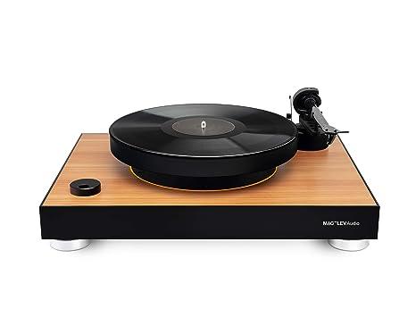 mag-Lev Audios Record Player ML1 Edición de Madera con una ...