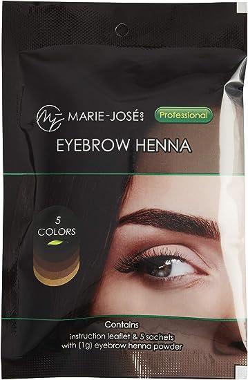 Henna tinte de pelo para cejas, cejas Henna Blond Kit completo de tinte de cejas con Henna Brow Dye una manera fácil de lograr HENNA BROWS.