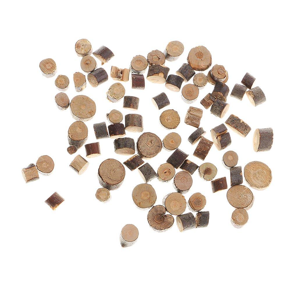 Baoblaze Pack De 200 Bois Tranches De Rondins Disques DIY Artisanat De Mariage Pi/èce Ma/îtresse D/écorations Mini Bois Piles Pour Scrapbooking Carte Fabrication Accessoires 5-10mm