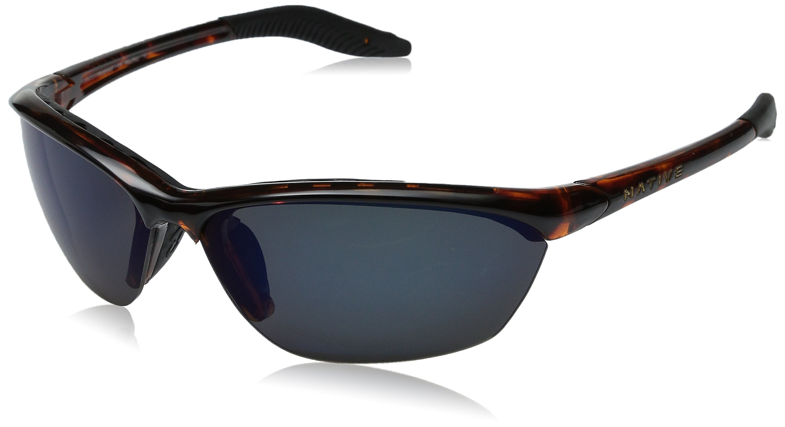 Native Eyewear Hardtop Sun Glasses (Blue Reflex/Gray, Maple Tort)