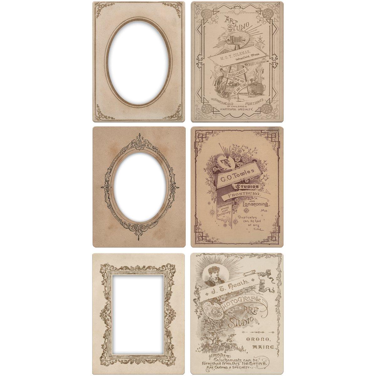 Mini Cabinet Card Frames by Tim Holtz Idea-ology, 6 per Pack, 3.25 x 4.25 Inches, TH93118 Advantus Corp.
