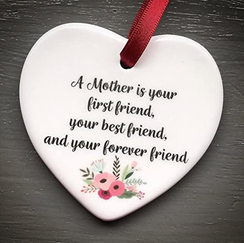c0139698e0467 A Mother is your first friend Mini Hanging Heart Plaque Mothers Love Plaque  Gift  Amazon.co.uk  Handmade