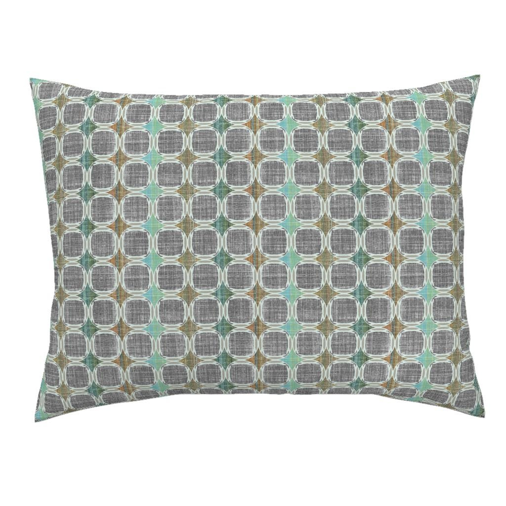 roostery Joan Pillow ShamデンマークモダンJade by joanmclemore Natural Cotton Sateen Made by 26