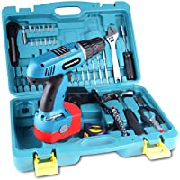 50pc 18V Cordless Drill Driver Power Hand Tool Set with Storage Case