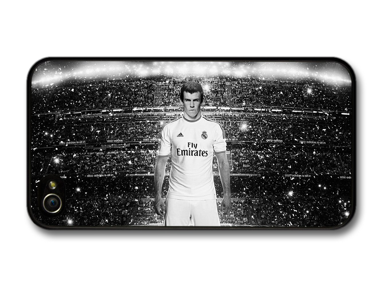 Gareth Bale Black White Real Madrid CF Football carcasa de ...